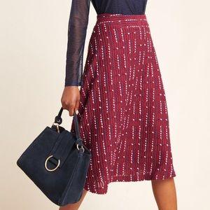Anthropologie Anisa Textured Midi Skirt NWT